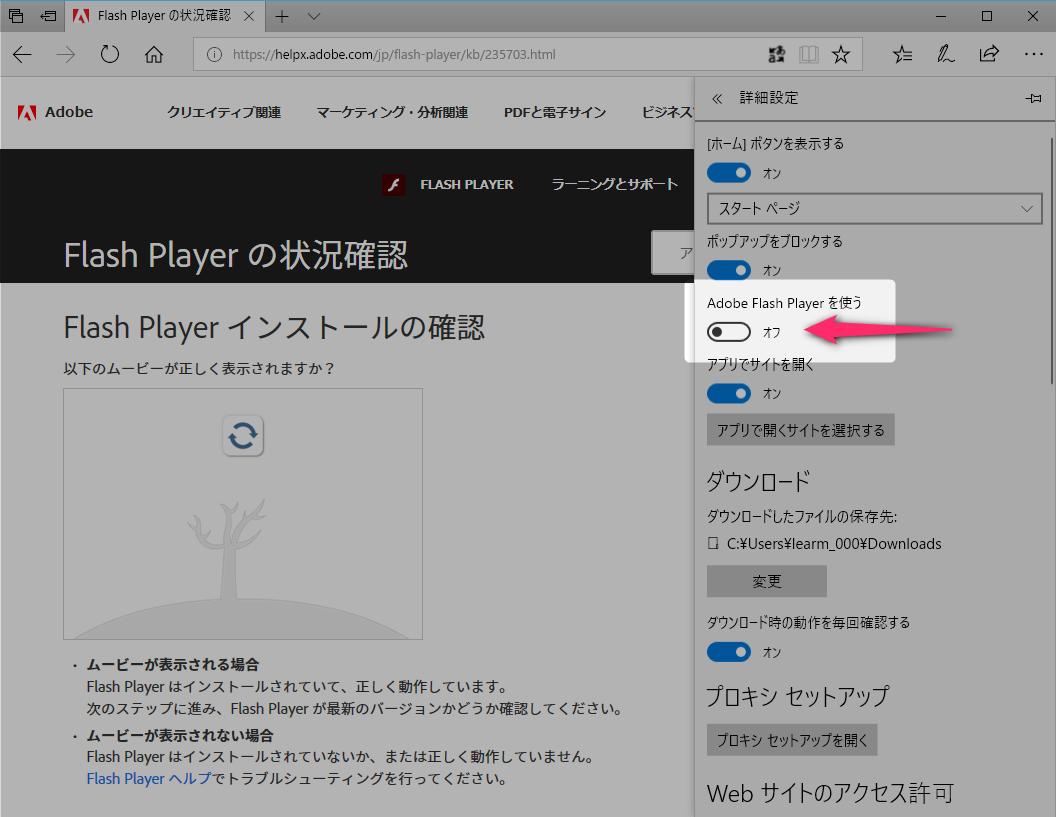 Adobe Flash Player が動作しない場合の対処法
